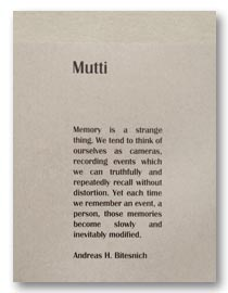Mutti - a conceptional work