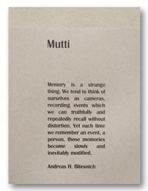 Mutti - a conceptional work