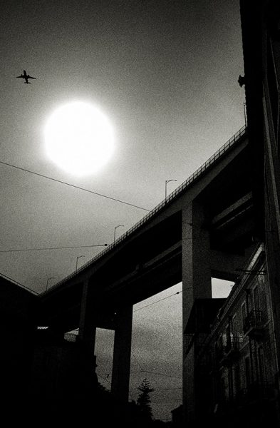 Airplane and cross, Lisbon 2019