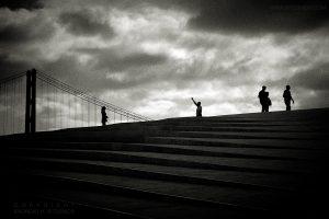 Clouds, Bridge and Silhouettes, Lisbon 2019