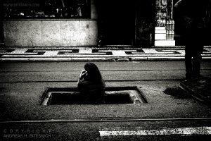 Woman on mobile phone, Lisbon 2019