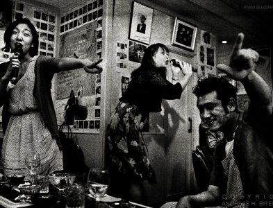 At the Shinjuku Hanaguruma bar, Tokyo, Japan 2012