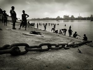Bank of Hooghly river,Kolkata, India 2008