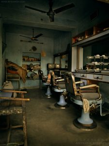 Barber shop in Pushkar near Jaipur, India 2006