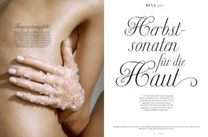 Beauty editorial for Diva magazine Austria