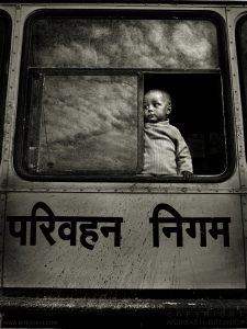 Boy in bus, Jaipur, India 2006
