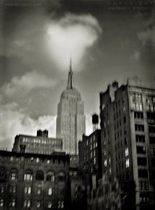 Cloud over Empire State Building, New York 1998