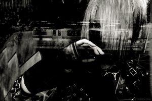 Girl with train, Tokyo, Japan 2012
