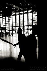 Inside Centre Georges Pompidou (right), Paris 2011