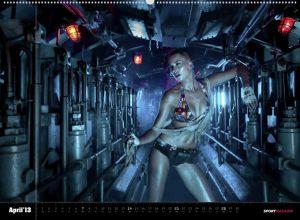 Lena Gercke for Sport Magazin Bikini Kalender