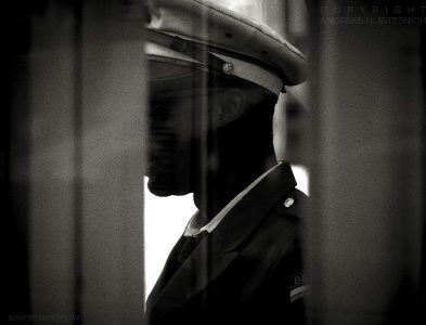 Man in uniform, Berlin 2017
