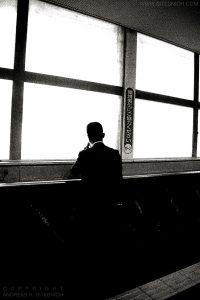 Man on phone, Tokyo, Japan 2012
