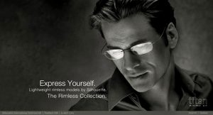 Advertising campaign with Mark Vanderloo for Silhouette Glasses