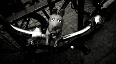 Mouse on bike, Berlin 2017