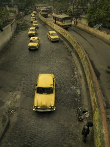 Nine taxis, Kolkata, India 2008