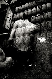Tattooed man, Tokyo, Japan 2012