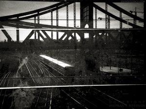 Train and bridge, Berlin 2017