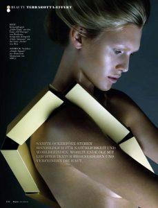 Beauty editorial for Flair Magazine Austria